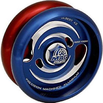Kundenspezifische produkte mag stiletto yo - yo - blau   rot - und freie fäden