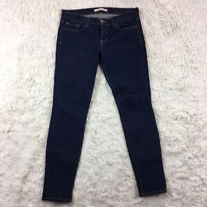 J brand Indigo Skinny Jeans Dark Wash cut #4389 Women's size 28 Bk