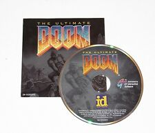 The Ultimate Doom PC DOS CD-ROM Game 1995 Disc & Cover Art Only