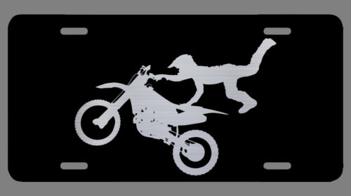 Motocross Laser Etched Metal License Plate Dirt Bike X-Games Christmas Gifts