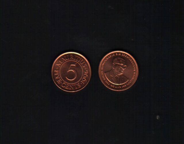 Mauritius 5 Cents, 1996 for sale online | eBay
