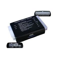 PC 20/24 PIN PSU ATX SATA HD Power Supply Tester-UK Venditore