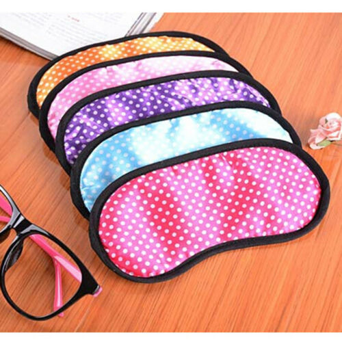 Random Colour sent * Handmade Cotton Polka Dot Sleep Eye Mask Blindfold Travel
