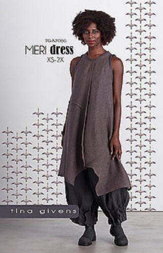 2X XS Meri Dress Sewing Pattern  TG-A7086 by Tina Givens Lagenlook Style
