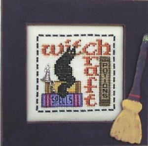 HINZEIT-Cross-Stitch-Chart-with-1-Charm-WITCH-CRAFT-Halloween