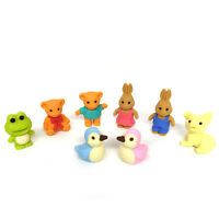 Iwako Japanese Puzzle Eraser / Cute Animal 8pcs / Combination