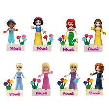 8 Pcs Prinzessin Minifiguren Bau Block Aschenputtel Meerjungfrau Passend Lego