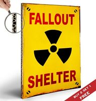 FALL OUT SHELTER POSTER Retro Vintage Design 30X21cm Print Wall Door Sign Decor