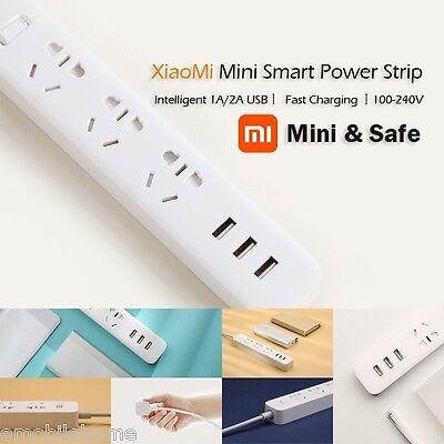 Original XiaoMi 3 USB Charging Ports Mini Power Strip with 3 Sockets white