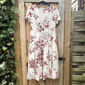 MAX MARA Studio Ladies Floral Print Summer Fit & Flare Midi Dress Size 12 UK