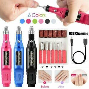 Nail-Art-File-Electric-Drill-File-Acrylic-Manicure-Pedicure-USB-Portable-Machine