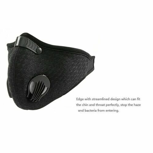 Anti Dust Training Bicycle Cycling Face Cover With Activated Carbon Filter
