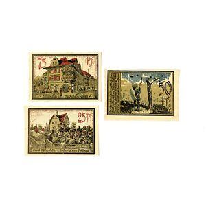 1 Set Of 3 Diff. Ufchersleben Monnaie De Nécessité 1921 Au Bsctygnj-07231106-128255514