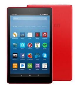 Amazon-Kindle-Fire-HD-8-Red-Tablet-Latest-Gen-Alexa-16GB-IPS-Front-Rear-Camera