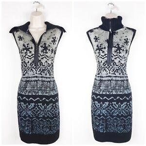 MARC-CAIN-Sports-Virgin-Wool-Knit-Pencil-Dress-N4-UK14-Sports-Luxe-Knit-Collar