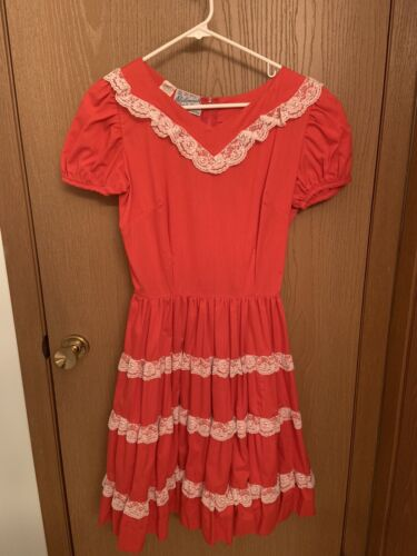 Vintage Western Square Dance Dress (size 12)