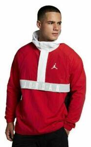 692f5ccaebaa91 Nike  120 Men s Air Jordan WINGS ANORAK Wind Jacket Pullover Red ...