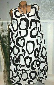 Lagenlook Kleid Ballonkleid WEIß Oversize Sommerkleid ...