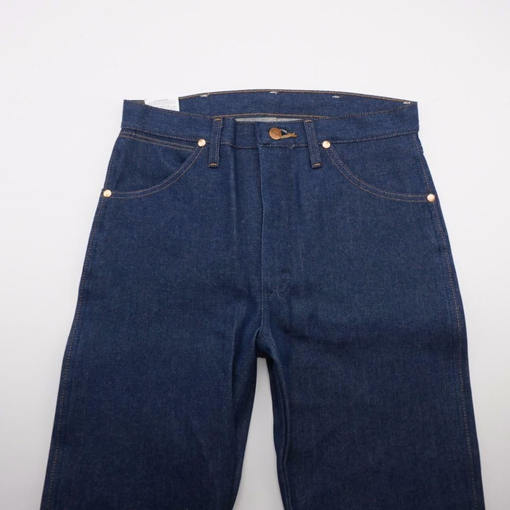 WRANGLER 13MWZ Cowboy Cut Boot Cut Starched Jeans Drk Wash Denim Mens 30x36