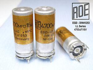 Audio 4700uF 16V Philips capacitor Kondensator NOS 2 Elkos