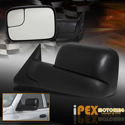 1994-2001 Dodge Ram 1500/2500/3500 TELESCOPING+HAULING Manual Tow Side Mirrors