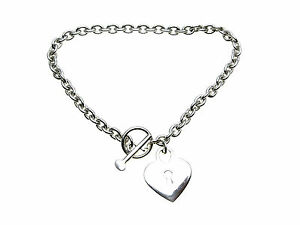 925-Sterling-Silver-chain-Bracelet-with-heart-dropper-Presentation-Boxed