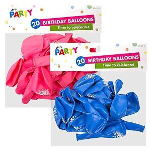 Buon Compleanno Palloncini Buon Compleanno Design Stampato - 20 palloncini in un pacchetto  </span>