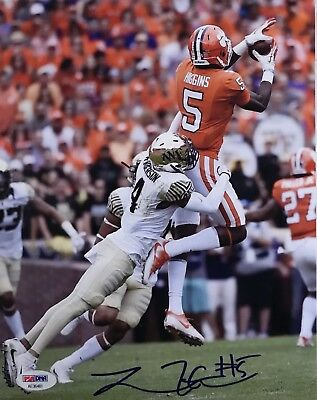 TEE HIGGINS SIGNED AUTOGRAPHED 8x10 PHOTO CLEMSON TIGERS STAR RECEIVER PROOF!