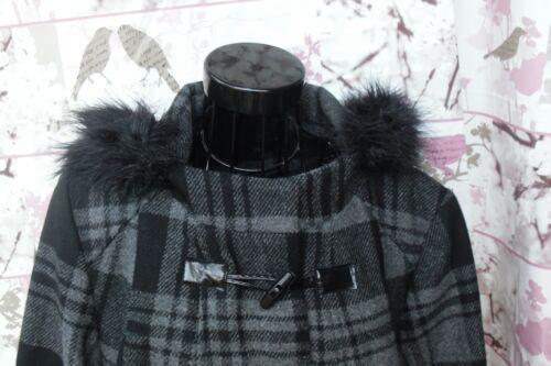 Superbe manteau fourrure capuche à Bnwot 16 taille Evans en apwagqxZ