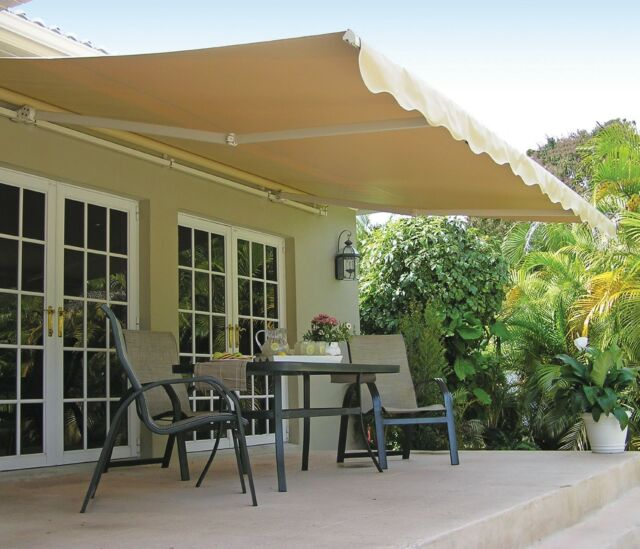 awnings shades awning x roof width item height retractable motorized outdoor projection aluminum sun