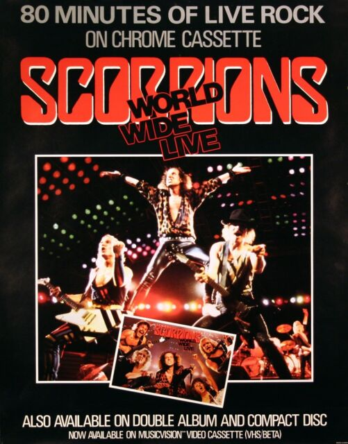 Scorpions1985 World Wide Live Canadian Promo Poster Original