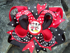 MINNIE-amp-MICKEY-MOUSE-CHOOSE-YOUR-OWN-BOTTLECAP-HAIRBOW