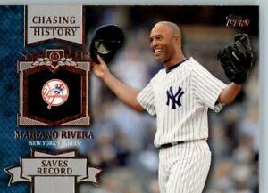 2013 Topps Chasing History #CH-9 Mariano Rivera - New York Yankees
