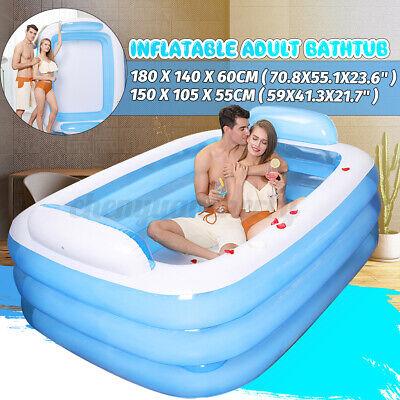 Winter Warm Bathtub Adult PVC Portable Spa Inflatable Bath Tub 0.6m US