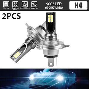 2x-H4-9003-LED-Headlight-Kit-High-Low-Beam-6000K-White-Fog-Light-Bulbs-14000LM