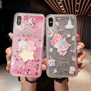 Details About Bling Sequins Quicksand Kawaii Twin Star Case Cover For Iphone Xs Max 6s 7 8p Xr