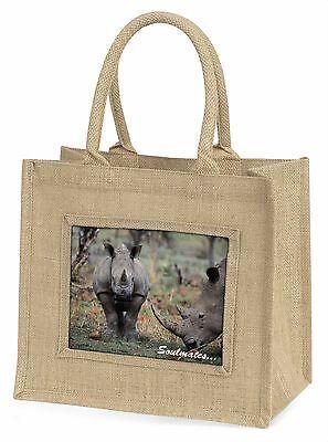 zwei Nilpferde in Love  Soulmates  Große natürliche jute-einkaufstasche Chri ,