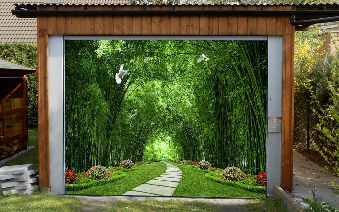 3D Park Bamboo 94 Garage Door Murals Wall Print Decal Wall AJ WALLPAPER UK Carly