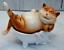 Zenzero in ceramica Fat Cat Scaffale BABY-SITTER Indoor Figurina Scultura Decorazione Giardino
