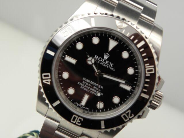 Rolex Submariner No Date 114060 Stainless Steel Black Ceramic Bezel 40mm