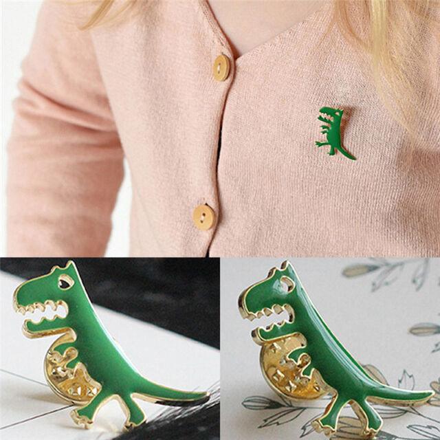 Green Dinosaur Badge Lapel Pin Brooch For Bag Backpack Accessories Kids Gift ke