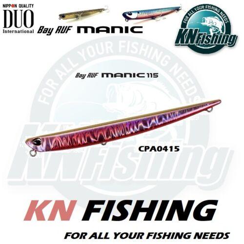 """DUO /""""BAY RUF MANIC 115/"""" Spinning Fishing Lure Saltwater Freshwater 115mm 16gr"""