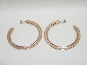 f9f6f1199 TIFFANY & CO. rubedo metal 1837 large hoop post earrings | eBay