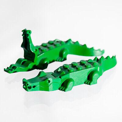 Lego minifigure Crocodile Alligator Green