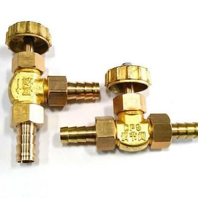 SUOFEILAIMU-Valve 10 mm ID Hose Barb Brass Needle Valve for Gas Max Pressure 0.8 Mpa NV4-10