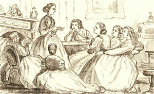1866 Pen and Ink Drawing - The Church Congress