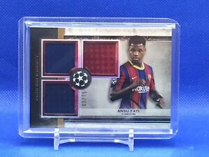 2021 Topps UEFA Champions League Museum Collection Ansu Fati 3-Patch 43/75