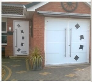 40mm Insulated Side Hinged Garage Door Side Hung Opening Contempory ...
