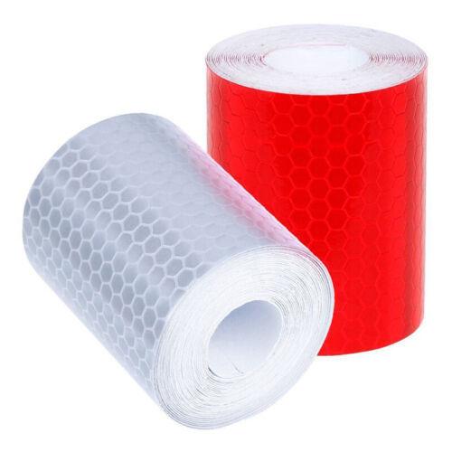 2 Stück Reflektierend Bänder Aufkleber Sticker Sicherheit Vorsicht Rot// Weiß Top