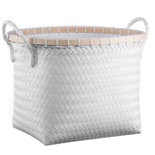 Room Essentials Medium Oval Woven Bin in White